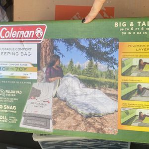 Coleman Big And Y'all Sleeping Bag for Sale in Dickinson, TX