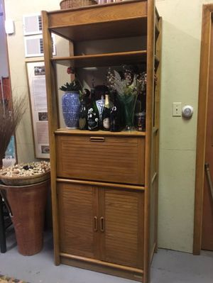 Wooden shelving unit, very solid for Sale in Allentown, PA