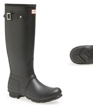 Matte Black Hunter Boots (barley worn) SIZE 9 for Sale in University Place, WA