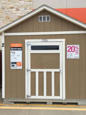 Tuff Shed Temple Tx Home Depot : 8 foot sidewalls: Dimensions 10'x12': 20% Off: Delivered as is $3989: Loaded with upgrade options: Call Tom Gilbert, for Sale in Austin, TX