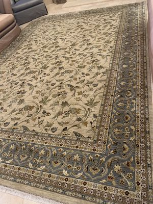 Authentic Hand-knotted Pure Kashmiri Silk Area Rug from India for Sale in Gastonia, NC