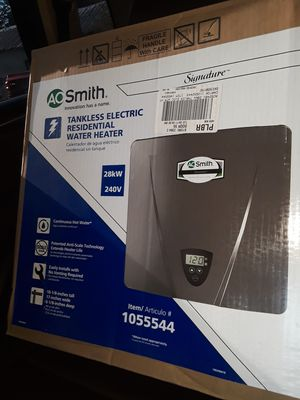 Ao smith tankless water heater ,Signature-240-Volt-28-Kilo-Watt-2-4-GPM-Tankless-Electric-Water-Heater for Sale in Orlando, FL