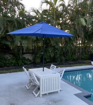 IKEA outdoor dining set - table, chairs, umbrella for Sale in Miami, FL