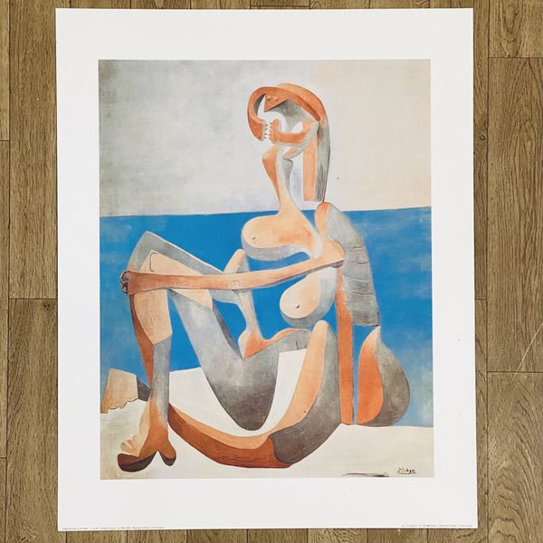 """Picasso Poster Baigneuse Assise - 20"""" X 16"""" - New"""