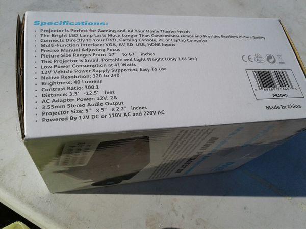 Pyle audio mini projector