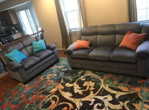 Brand New Grey Microfiber Sofa/Couch + Love Seat for Sale in Silver Spring, MD