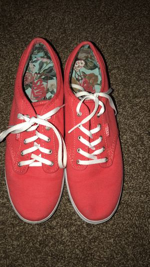 Women's coral vans size 10 women's , men's 8.5 for Sale in Laveen Village, AZ