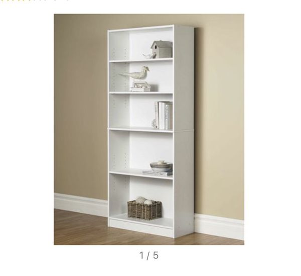 Bookcase height 6 ft and width 2.5 ft