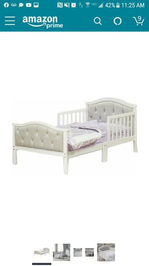 2 todler beds with soft head boards , wooden bed frame with half side rails for Sale in Philadelphia, PA