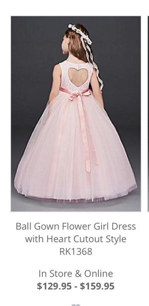 Flower Girl David's Bridal Light Pink Dress for Sale in Riverside, CA