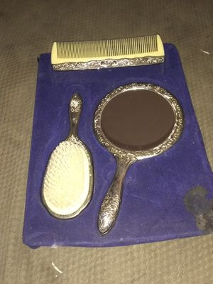 Old antique mirror,brush ,comb set for Sale in Springfield, OH