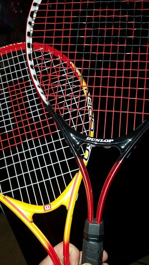 Wilson US Open 23 tennis racket and Dunlop PowerShot Junior 25 for Sale in Kernersville, NC