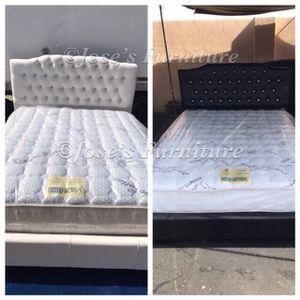 QUEEN SIZE BED (MATTRESS INCLUDED) for Sale in Lynwood, CA