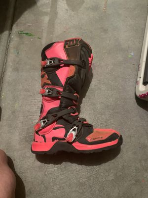 Girl pink fox dirt bike boots for Sale in Farmington, UT