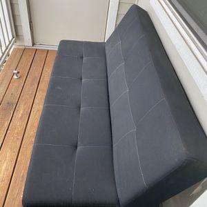 Black Futon Sofa for Sale in Portland, OR
