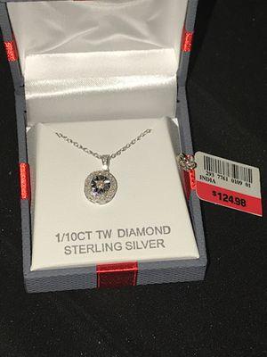 Diamond silver necklace for Sale in Orlando, FL