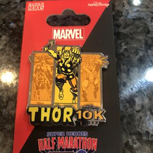 Collectible Marvel Half Marathon Pin Brand New. Thor 10 K Pin for Sale in Artesia, CA