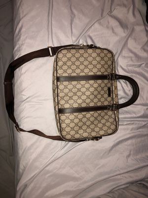 Gucci purse (purse/handbag) brown and beige with leather handles and fabric shoulder strap (dust bag included) for Sale in Baltimore, MD