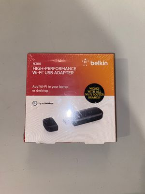 High-performance Wi-Fi USB adapter by Belkin. for Sale in Manassas, VA