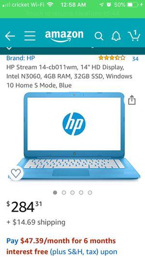 Hp laptop read description for Sale in La Vergne, TN