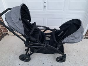 Contour Double Stroller w/ car seat adapter for Sale in Glen Burnie, MD