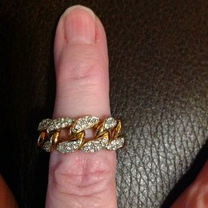 New Pave CZ Chain Ring Band - sparkles like crazy! for Sale in Poulsbo, WA