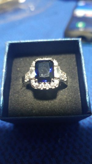 Sizen7 sapphire ring 925 sterling silver for Sale in Phenix City, AL