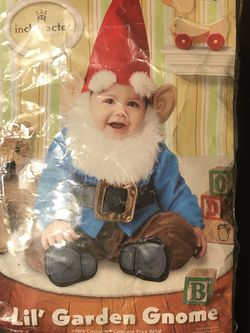 Lil garden gnome costume 12-18m for Sale in Los Angeles,  CA