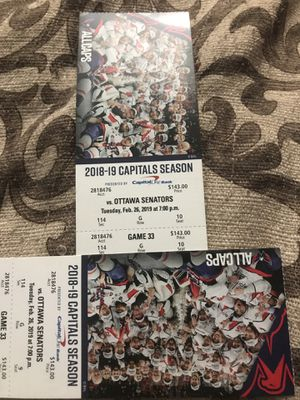 Washington Capitals game tickets !!! EXCLUSIVE front row game tickets for 35% off for Sale in Germantown, MD