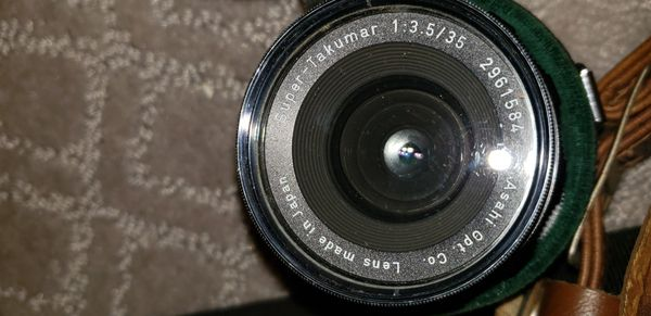 Vintage pentax camera and lenses