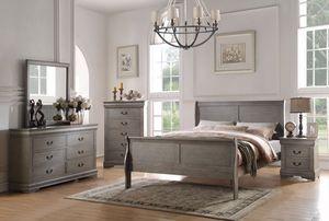 Bedroom Set/4 pcs(bed,dresser,mirror,nightstand)📦 for Sale in Miami, FL