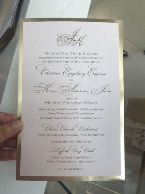 Wedding invitations. Blush and Gold for Sale in Miami, FL