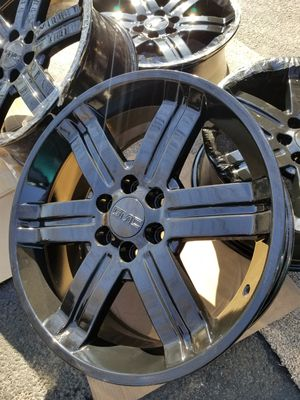 "22"" GM geniune stock black wheels factory rims NEW! for Sale in Bolingbrook, IL"