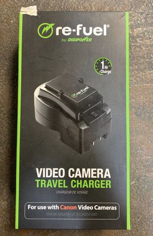 DIGIPOWER RE-FUEL RFVTC500C VIDEO CAMERA TRAVEL CHARGER FOR CANON CAMERA BATTERY for Sale in Tacoma, WA