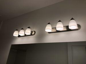Bathroom Vanity Light Fixtures, Brushed Nickel for Sale in Lutz, FL