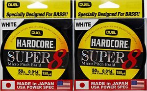 2 Dual Hardcore Super 8 Micro Pitch Braid 150 YD 50BL Fishing Line 4 Baitcaster Baitcast Spinning reels for Sale in Litchfield Park, AZ