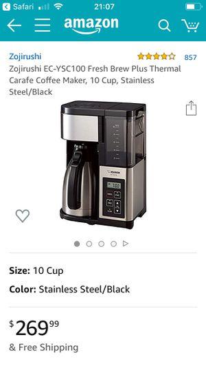 Zojirushi EC-YSC 100 Fresh Brew Plus Carafe 10 Cup Coffee Maker for Sale in Seattle, WA