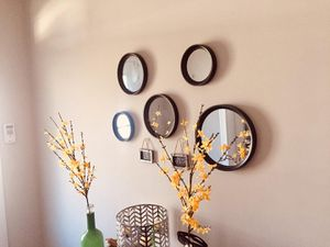 5 piece mirror wall decor for Sale in Holly Springs, NC