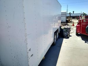 16 ft box trailer interior shelving new tires good breaks and clear title for Sale in Lathrop, CA