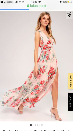 Lulu's Blush Floral Maxi Dress NWT for Sale in Fresno, CA