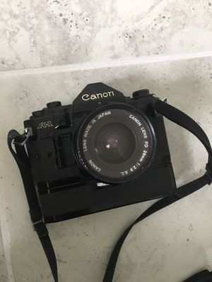 Vintage Canon A-1 Film camera with lenses for Sale in Celebration, FL