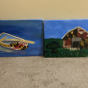 Maryland Flag/ Boat Scene for Sale in Columbia, MD