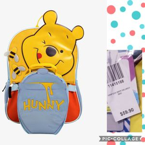Cute disney pooh backpack & lunch box for Sale in Colton, CA