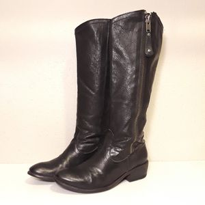 Frye Knee High Full Zip Boots Black Leather for Sale in Anaheim, CA