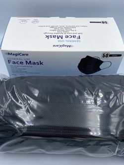 Adult Disposable Ear Loop Face Mask 😷 - Black - 3 Ply - 50 pieces for Sale in Bellflower,  CA