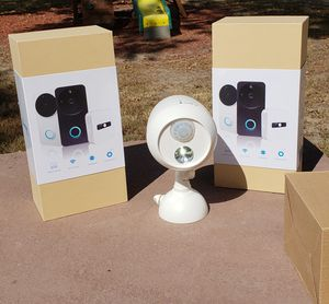 Doorbell with camera and Mr. Beam light for Sale in Chesterfield, VA