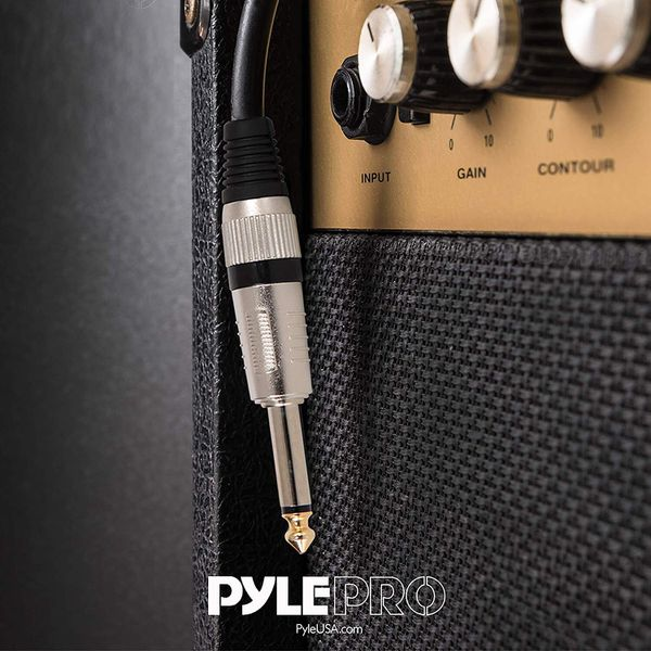 """Pyle Pro PPJJ50 - 50ft 12 Gauge ¼"""" to ¼"""" Mono Jack Male Audio Cable"""