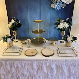 Navy Blue Gold And White Party Decorations for Sale in Winfield, IL