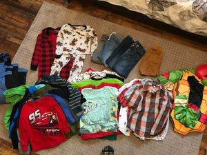 Boys 3T/4T Jeans, dress shirts, pjs, long sleeves, snow suit, costume for Sale in Lodi, CA