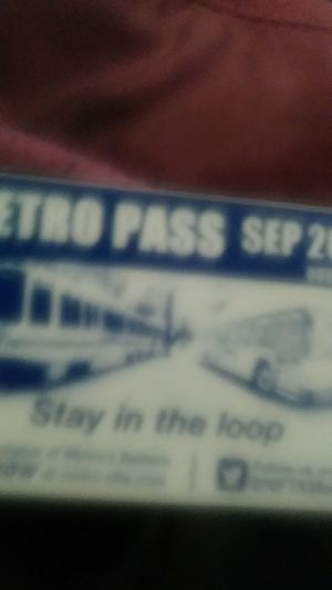 September bus pass for Sale in West Seneca, NY